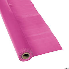Plastic Hot Pink Tablecloth Roll
