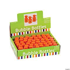 Plastic Jack-O'-Lantern Mini Bubble Bottles
