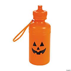 Plastic Jack-O'-Lantern Water Bottles