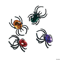 Plastic Jewel Spider Rings