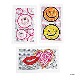 Plastic Jeweled Cell Phone Stickers