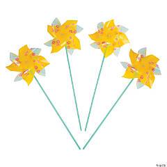 Plastic Jumbo Pineapple Design Pinwheels
