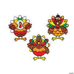 Plastic Jumbo Turkey Suncatchers