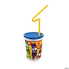 Plastic Kids Rule™ Crayons Kids' Meal Cups