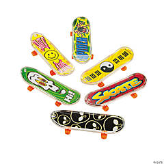 Plastic Large Finger Skateboards