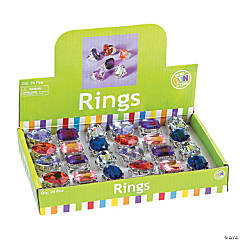 Plastic Large Stone Rings