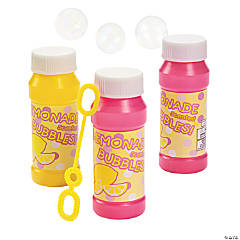 Plastic Lemonade-Scented Bubble Bottles