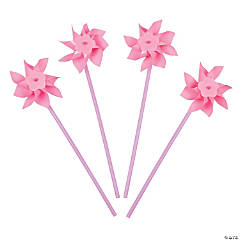 Plastic Light Pink Pinwheels