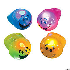 Plastic Light-Up Smile Face Rings