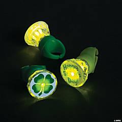 Plastic Light-Up St. Patrick's Day Rings