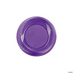Plastic Lilac Dessert Plates