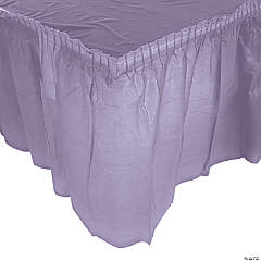 Plastic Lilac Pleated Table Skirt