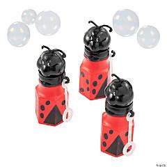 Plastic Little Ladybug Bubble Bottles - 12 Pc.