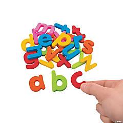 Plastic Magnetic Letters - Lowercase Letter Set
