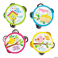 Plastic Make A Joyful Noise Tambourines
