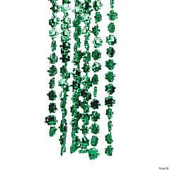Plastic Metallic Beaded Shamrock Necklaces