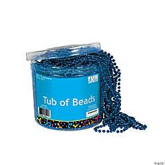 Plastic Metallic Blue Tub of Beads