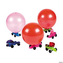 Plastic Metallic Car Balloon Racers