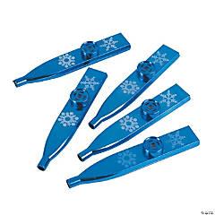 Plastic Metallic Snowflake Kazoos
