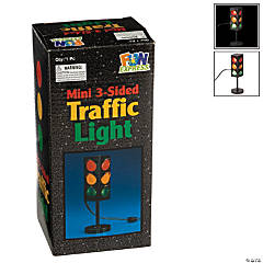 Plastic Mini 3-Sided Traffic Light
