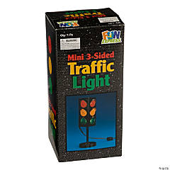Plastic Mini 3-Sided Traffic Light