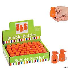 Plastic Mini Jack-O'-Lantern Bubble Bottles