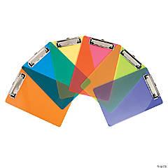 Plastic Mini Rainbow Clipboards