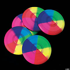 Plastic Mini Rainbow Flying Disks