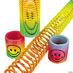 Plastic Mini Rainbow Smile Face Magic Springs