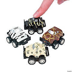Plastic Mini Safari Pullback Race Cars