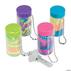 Plastic Mini Sand Art Bottle Keychains