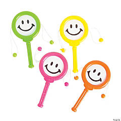 Plastic Mini Smile Face Noisemakers