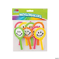 Plastic Mini Smile Face Noisemakers
