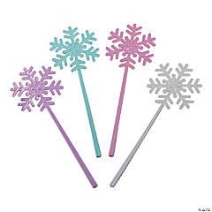 Plastic Mini Snowflake Wands