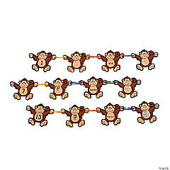 Plastic Monkey Math Linking Game