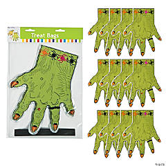 Plastic Monster Hand-Shaped Treat Bags