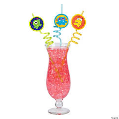 Plastic Monster Loop Straws