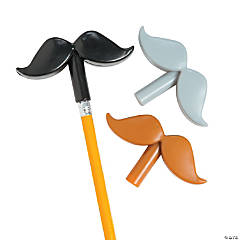Plastic Mustache Pencil Toppers