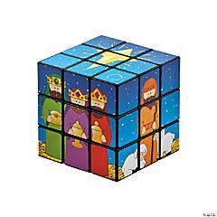 Plastic Nativity Puzzle Cubes