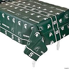 Plastic NCAA® Michigan State Tablecloth