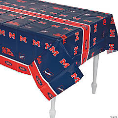 Plastic NCAA™ Mississippi Rebels Table Cover