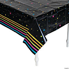 Plastic Neon Glow Party Tablecloth