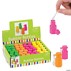 Plastic Neon Hexagon Bubble Bottles