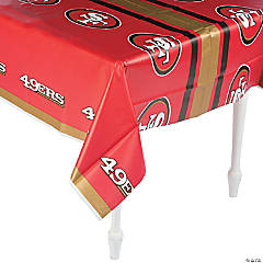 Plastic NFL® San Francisco 49ers™ Tablecloth