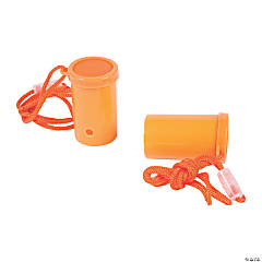 Plastic Orange Air Blaster Horns
