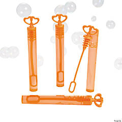 Plastic Orange Heart Bubble Tubes