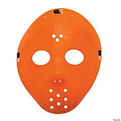 Plastic Orange Hockey Masks