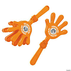 Plastic Orange Team Spirit Custom Photo Hand Clappers