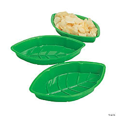 Plastic Palm Leaf Serving Trays