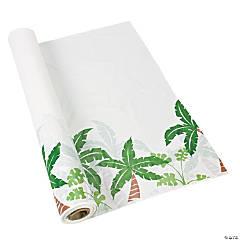 Plastic Palm Tree Tablecloth Roll